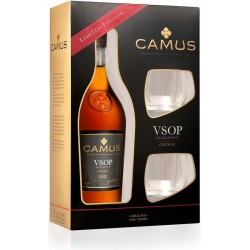 CAMUS VSOP+2 GLASSES LIMITED EDITION Cognac