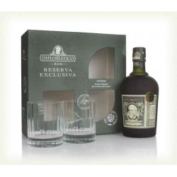 DIPLOMATICO RESERVA EXCLUSIVA WITH 2 GLASSES