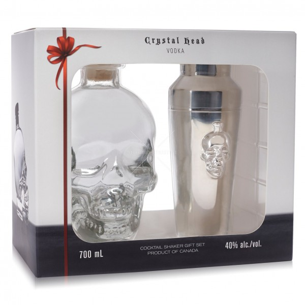 CRYSTALL HEAD  700ML + SHEIKER Vodka